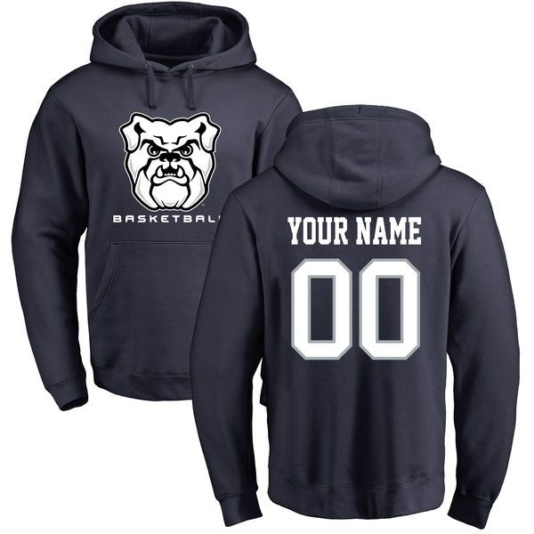 Butler Bulldogs Personalized Basketball Pullover Hoodie - Navy - $69.99