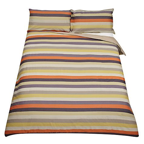 Buy John Lewis Linea Stripe Duvet Cover, Grey Online at johnlewis.com