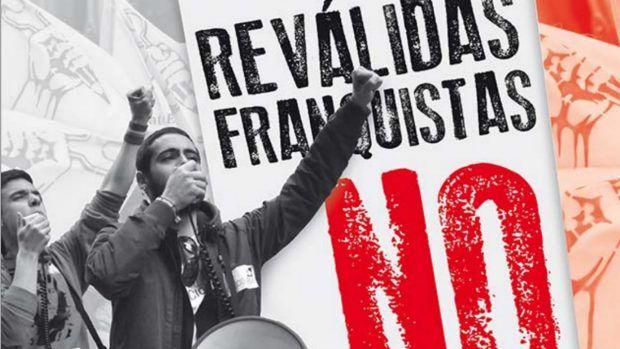 El sindicato de estudiantes y la izquierdista CEAPA hacen huelga contra las reválidas franquistas
