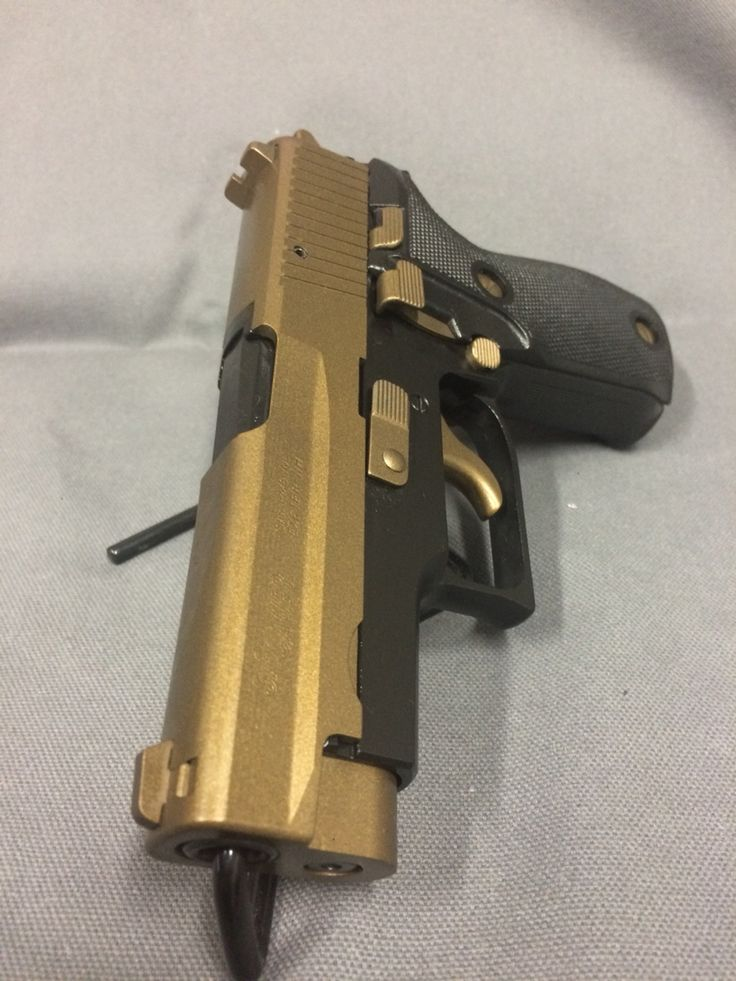 Sig P225 In Burnt Bronze And Graphite Black My Cerakote