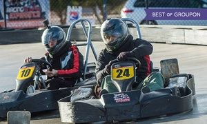 Groupon - Two Go-Kart Races for One or Two or VIP Package for Two at Gene Woods Racing Experience (Up to 80% Off) in Enterprise. Groupon deal price: $27