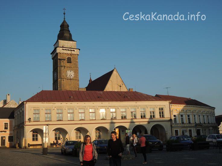 Slavonice - Městská věž a náměstí