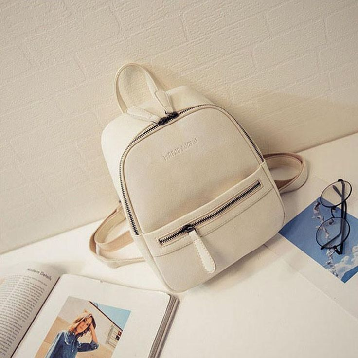 whitewomen backpack new arrived fashion casual PU ladies backpacks candy color Korea school style solid student mini backpack,LB1999