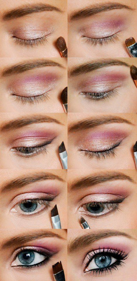 Pinkish Eye Makeup TutorialIn the end, is better to use brown liner and mascara,…