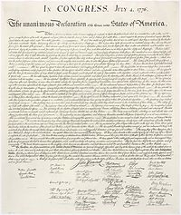 Declaration of Independance, 1823 facsimile of the engrossed copy