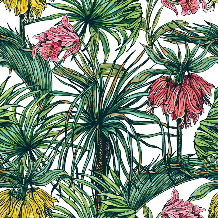 Papel de Parede Floral ou motivo para tingir tecido com plantas verdadeiras.