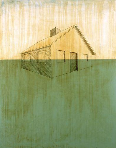 Hoss Haley, FLOOD; enamel paint on steel; 60x48 in.