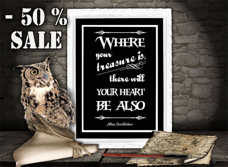 Harry Potter Art Print - Albus Dumbledore Quote - Printable Quote - Inspirational Art for Kids Room