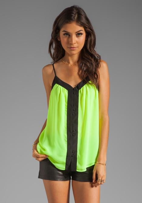 PATTERSON J. KINCAID Johanna Colorblock Tank in Neon Yellow at Revolve Clothing - Free Shipping!