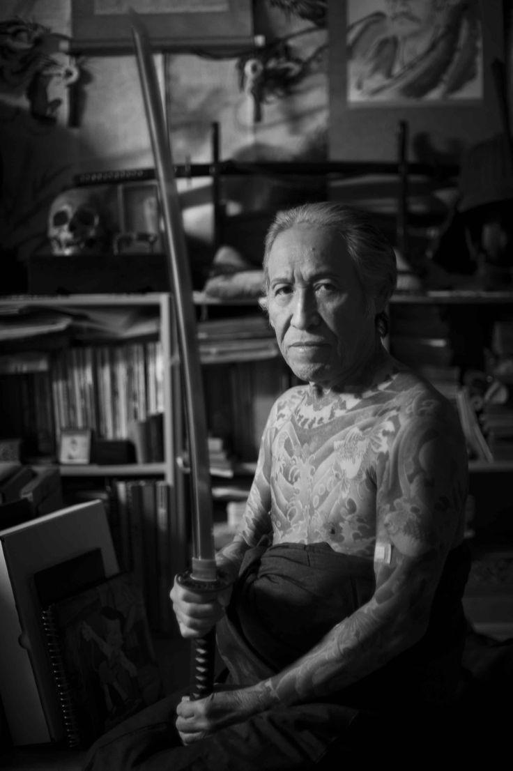 Famous horishi tattoo artist Horiyoshi III (Yoshihito Nakano). He specializing in Japanese traditional full-body tattoos called Irezumi or Horimono.