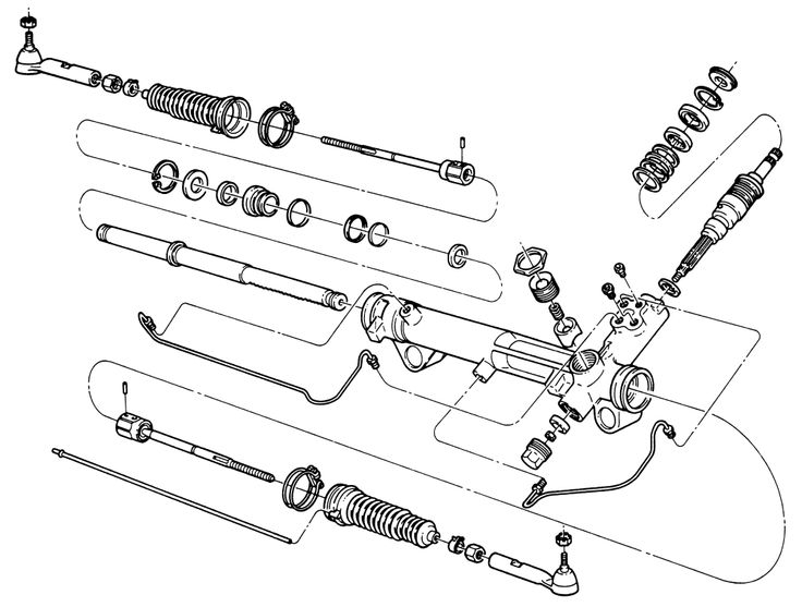 camry rack and pinion cylinder diagram