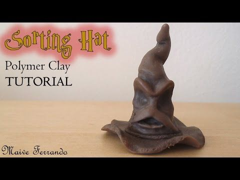 ▶ Polymer Clay Harry Potter's Sorting Hat TUTORIAL | Maive Ferrando - YouTube