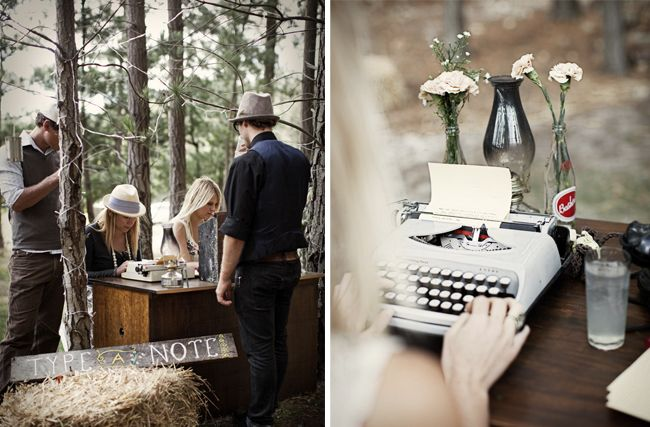 Outdoor Wedding & a Retro 1960s Remington Envoy Typewriter