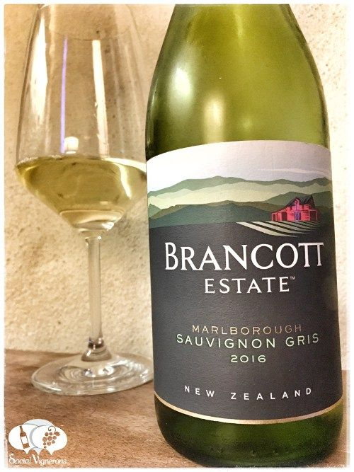 Score 90/100 Wine review, tasting notes, rating of 2016 Brancott Sauvignon Gris Marlborough. Description of aroma, palate, flavor. Join the experience.