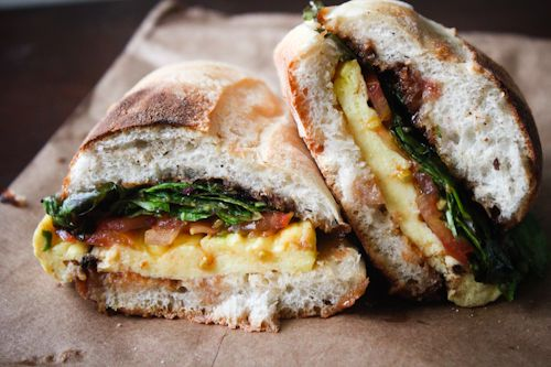 Parmigiano and Egg Sandwich at Piccolo Cafe #sandwich #restaurant #nyc