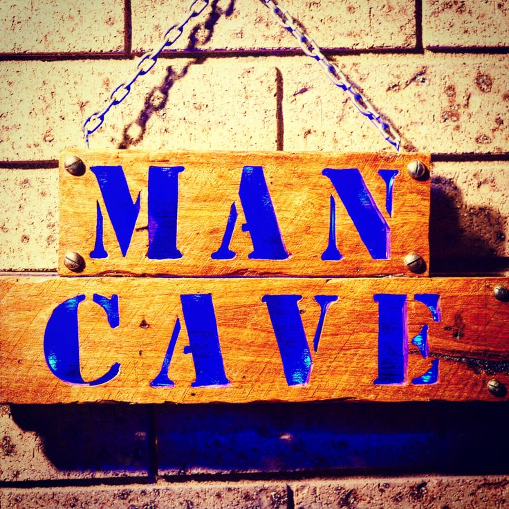 Man Cave Sign from Recycled Wood Pallets. #woodsignaustralia #mancave #mancavedecor #mancavewoodsign