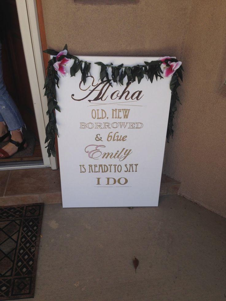 Aloha Welcome Sign: Hawaiian Bridal Shower