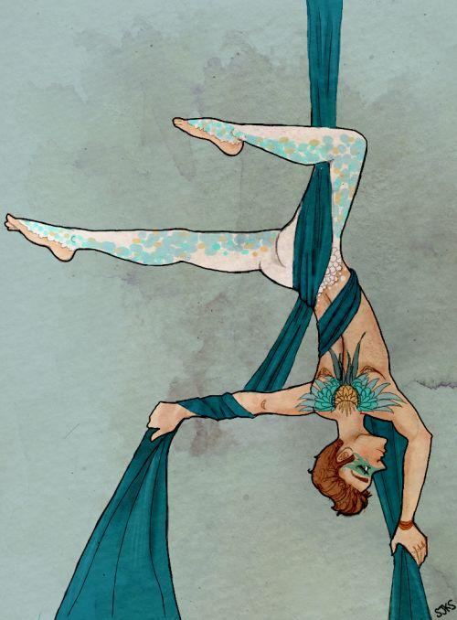 Para Inkystars y rsquo;  nueva Fuego verso y de la Seda, donde Kurt es un ejecutante de seda aérea en el circo donde Blaine juega con fuego.  AMO circo UA.  Además, Vanessa sigue dejarme dibujar tatuajes y la moda.  Mi corazón se ha cumplido.