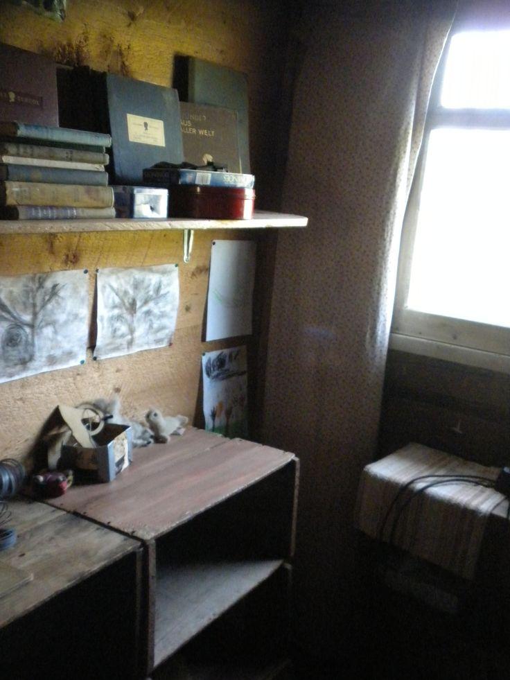 Inside the original Kilcher Homestead cabin.