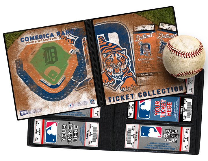 #Detroit Tigers Ticket Album.   One day at the ballpark can provide a lifetime of memories. And the ticket that opened the door, your actual game ticket, can help capture those memories forever. So whether you have a large ticket collection or you're just starting out, a Ticket Album is the perfect item to store, display, and protect your memories.