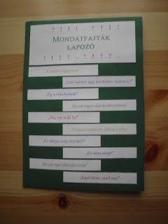 Bergamott: Mondatfajták lapozó