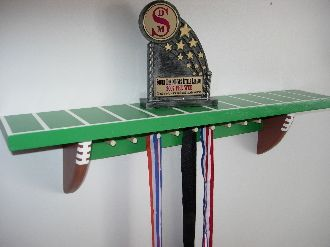 Currently making my own version of this ~ 4' football shelf for trophies and medals