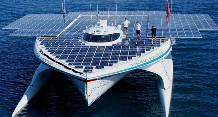 Com 809 Painéis, Este é o Maior Navio Do Mundo Movido a Energia Solar