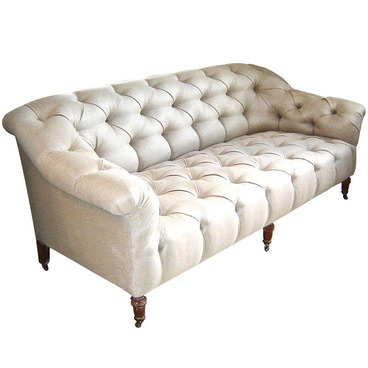 tufted edwardian sofa