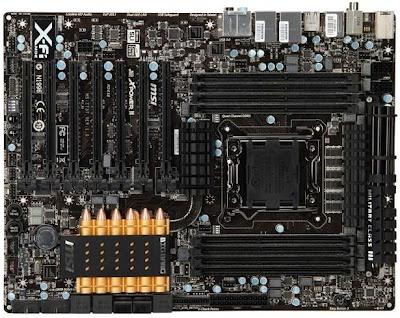MSI has issue their latest motherboard the MSI X79A-GD65-8D or also known as MSI Big Bang which emphasizes a balance between features and maximum performance.    This new MSI motherboard come with OC Genie button and Multi-BIOS button that allows you to boot up and switch to BIOS1 and flash. While at the back side there are PS / 2, 6x USB 2.0, Audio Optical, Coaxial and 3.5 mm (X-Fi 2 MB Lossless), Firewire, Intel Dual GB LAN, 4x USB 3.0 and a clear CMOS button.