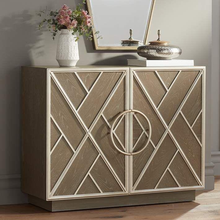 Vera 2 Door Gray Accent Chest 78p26 Lamps Plus Accent Chests And Cabinets Accent Chest Accent Doors Accent chest with doors