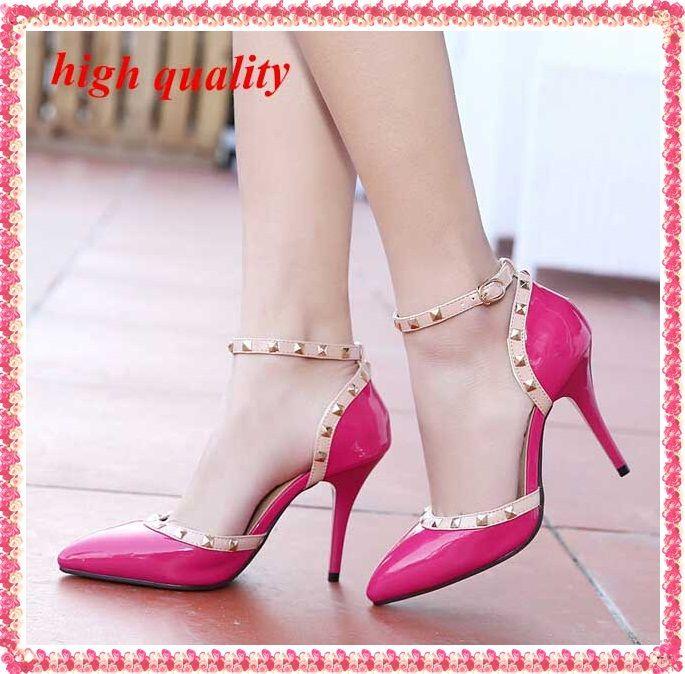 Заклепки насосы женщин шпильках обувь женщина моды женские гладиатор женская обувь острым носом на высоких каблуках женская обувь сандалии Y397