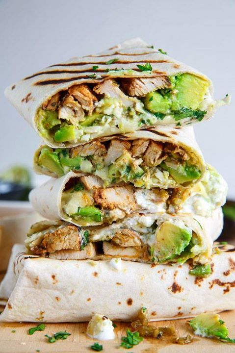Chicken Avocado Burritos! Yum! If you like this recipe and want me to share more like this please like