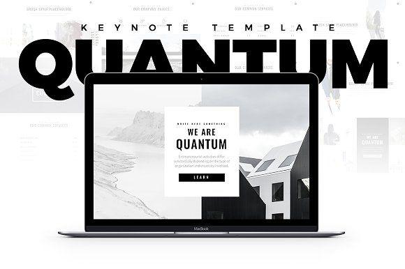 Quantum Minimal Keynote Template by Slidedizer on @creativemarket