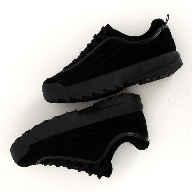 Buty Sportowe Zamszowe Czarne 81016 Black All Black Sneakers Black Sneaker Nike Air Max
