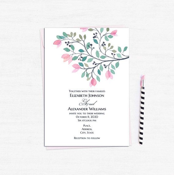 96 best Wedding invitations images on Pinterest Place cards - wedding announcement template