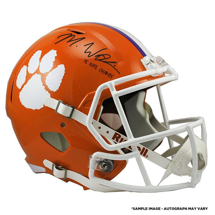 "Mike Williams Clemson Tigers Fanatics Authentic Autographed Riddell Speed Replica Helmet with ""16 NATL CHAMPS"" Inscription"