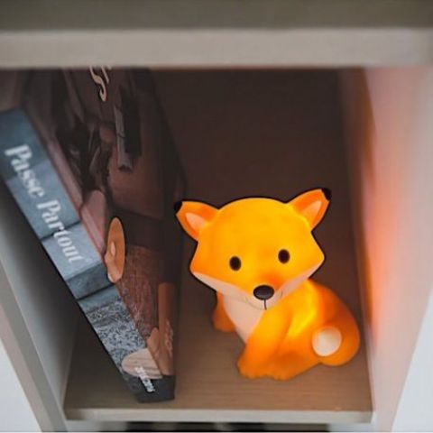 cute fox table LED lamp for a rustic or forest kids room