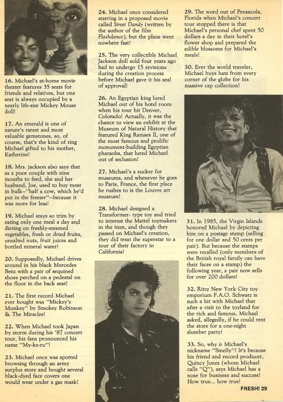 Fun-facts about Michael Jackson <3