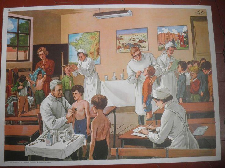 affiche Rossignol LE SALON DE THE- LA VISITE MEDICALE petits frais d'envoi | eBay