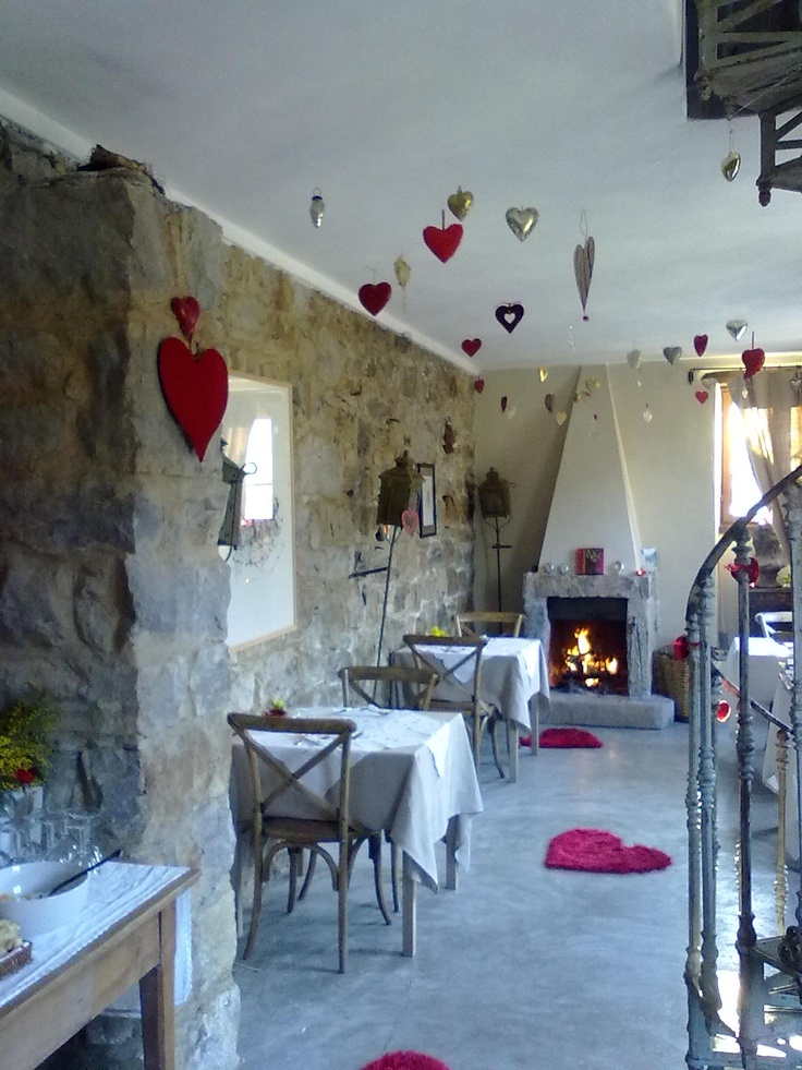 Our breakfast room ready for St. Valentine's.