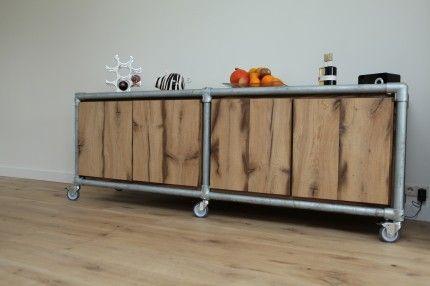 25 beste idee n over pijp meubels op pinterest pallet ideas industri le pijp en industri le - Deco eetkamer oud ...