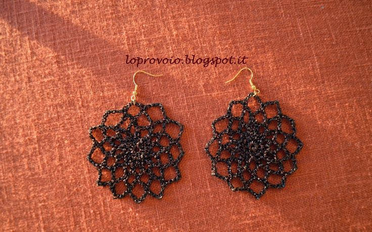 crochet earrings video tutorial - Lo provo io: Orecchini all'uncinetto a rosone