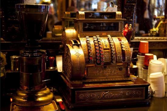 An antique cash register