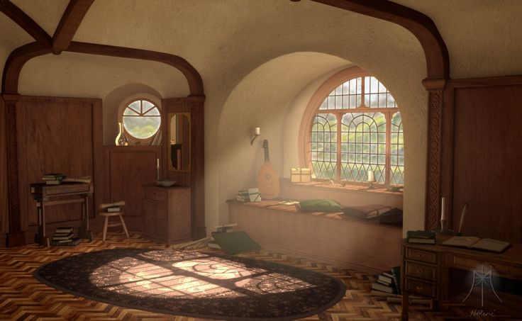 443 best middle earth inspired images on pinterest for Hobbit house furniture
