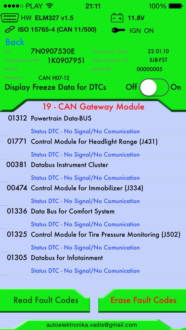 Iphone diagnostic tool VAgCaN WIfi
