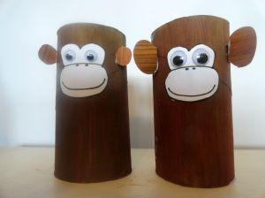 Toilet Paper Roll Monkeys! (pinned by Super Simple Songs) #educational #resources for #children