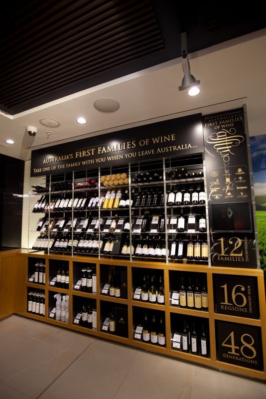 Australia's First Families of Wine welcomes an exciting new chapter - we love engaging in news relationships. This is our new wall of wine at Nuance Duty Free in Sydney airport - http://www.australiasfirstfamiliesofwine.com.au