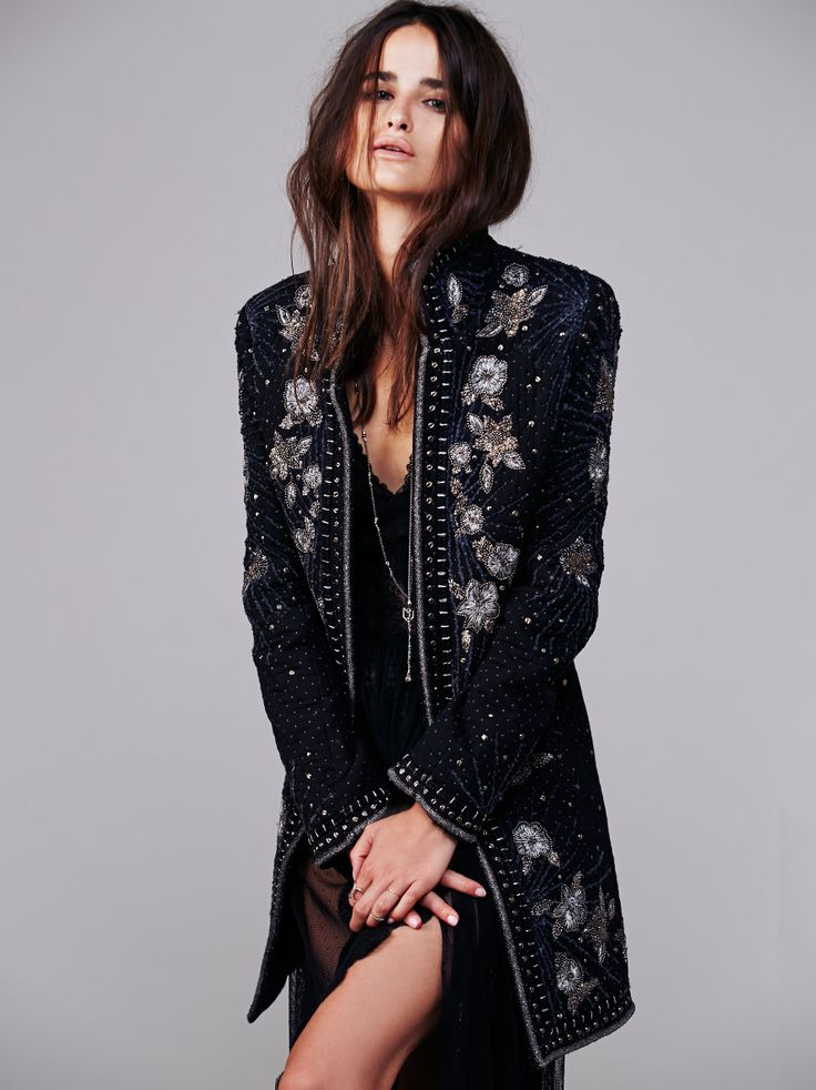 Marani Embellished Coat Fashion Amp Style In 2019