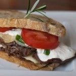 Roast Beef Sandwich with Horseradish Cream Sauce