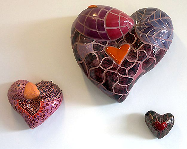 Mosaic heartbirds